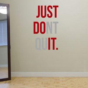 gym motivation quote don't quit